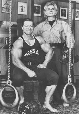 Larry Scott with Vince Gironda